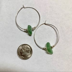 Jewelry - Kauai beach glass hoops